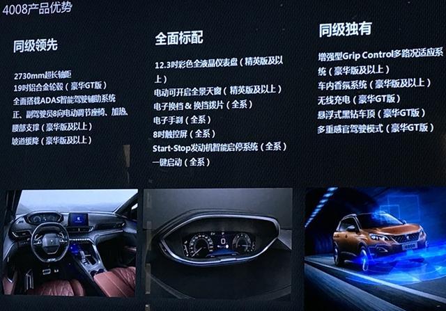 东风标致全新4008配置信息曝光 推6款车型