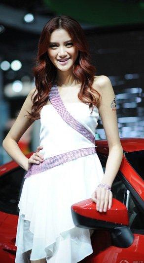 北京车展上甜美的丰田车模