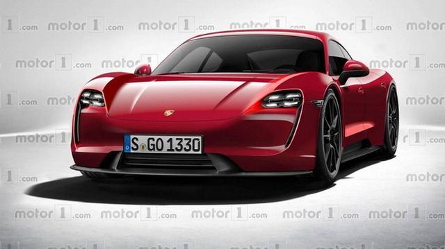 超跑也环保 保时捷首款纯电动车型效果图