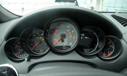 转速表中置-典型的保时捷仪表盘高清图片