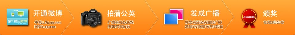 广州车展发现腾讯微博蒲公英有奖活动流程