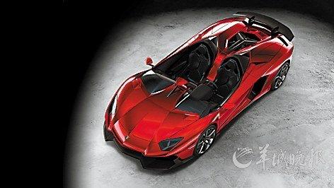 兰博基尼发布了其全世界仅此一辆的超级跑车:aventador j.兰高清图片
