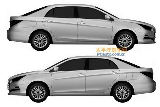 比亚迪全新车型专利图曝光 疑似新款G5