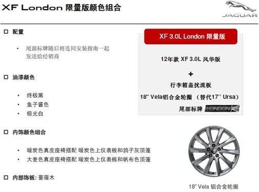 捷豹London限量版亮相燕英捷 全球仅500台