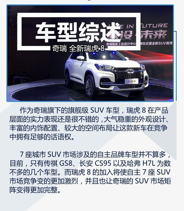 奇瑞瑞虎8正式亮相 进军大7座SUV市场