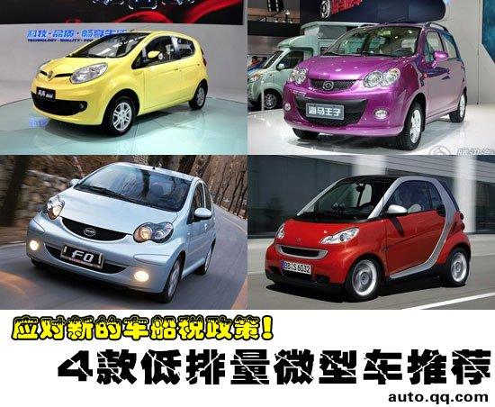 为了少交税 四款不同价位低排量微型车推荐