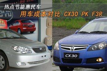 节能惠民车用车成本第17期 CX30对比F3R
