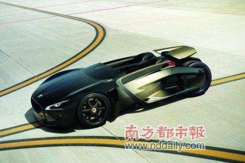 标致在华发布纯电动EX1概念车 动力极强