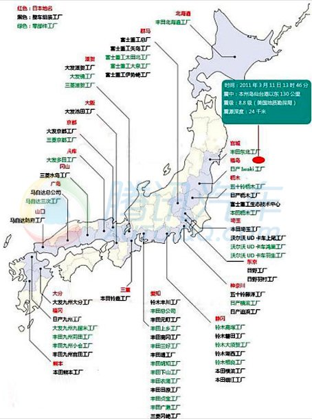 日本车企遭受地震重创