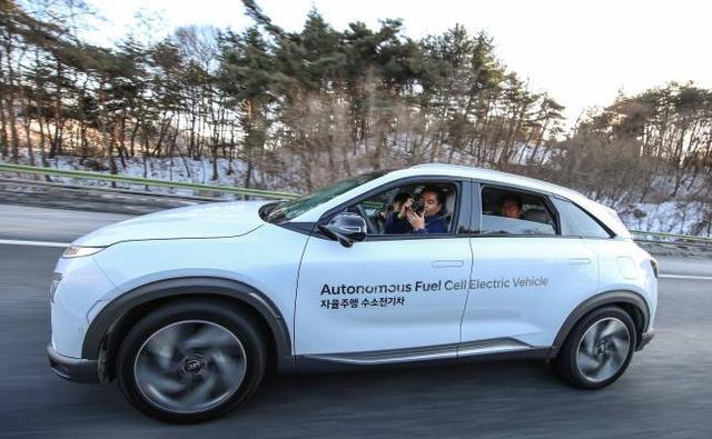 现代汽车自动驾驶氢燃料电池车NEXO完成路测