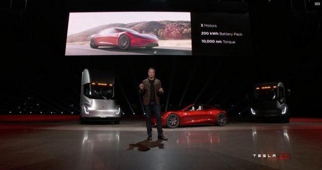 特斯拉新Roadster亮相 极速400km/h
