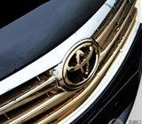 金色丰田标志