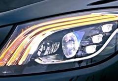 奔驰改款S级大灯细节图曝光 更富有科技感