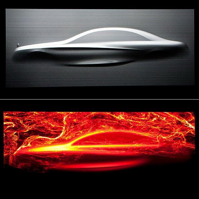 2012年的巴黎车展上,奔驰发布了Aesthetics S设计概念,其中的核心便是下滑腰线