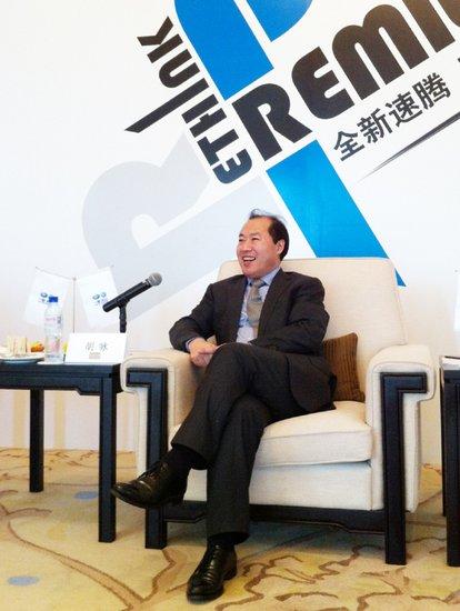 胡咏:新速腾计划进入年销20万辆俱乐部