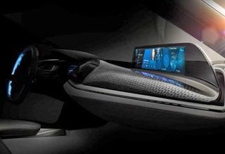 宝马新版i8敞篷概念车预告图 下月CES发布