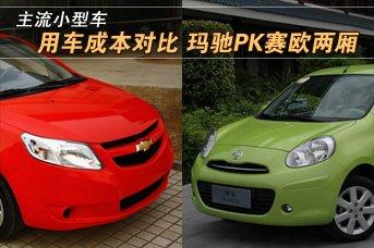 主流小型车用车成本对比 玛驰PK赛欧两厢