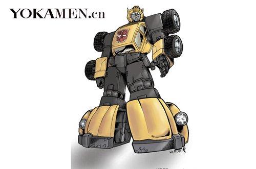 80年代动画版《变形金刚》中的大黄蜂高清图片