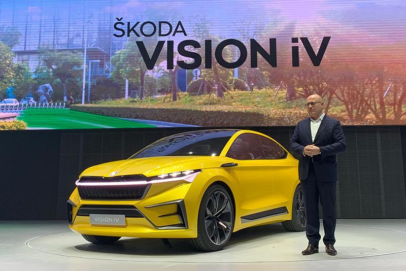基于大众EMB平台打造 斯柯达VISION iV概念车中国首秀