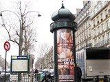 巴黎随处可见的信息柱