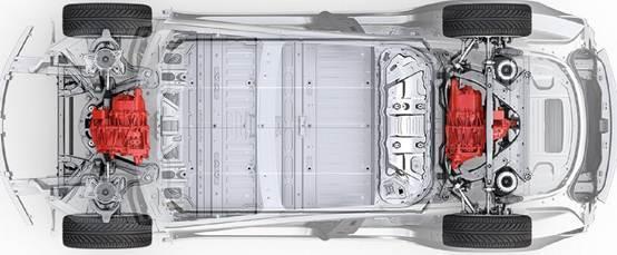 特斯拉双电机版Model 3动力系统设计图曝光