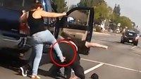 全球暴怒女司机你惹不起 连壮汉警察都打倒在地
