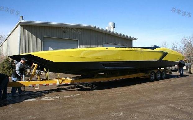 全球唯一一辆用兰博基尼跑车改装的快艇