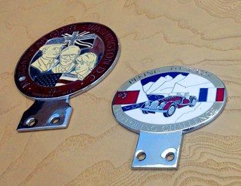 不同地域的车主在聚会时也可以相互交换摩根勋章