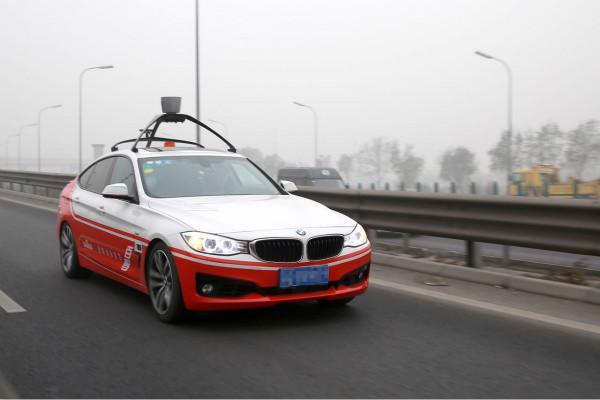 百度无人驾驶车北京五环路测 最高速100km/h