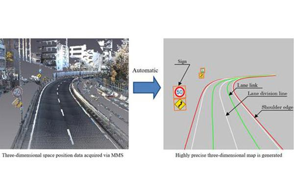 三菱电机新技术帮助创建及更新3D地图