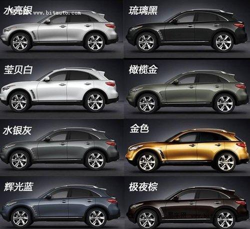 英菲尼迪FX购车手册 推荐35金尚标准版