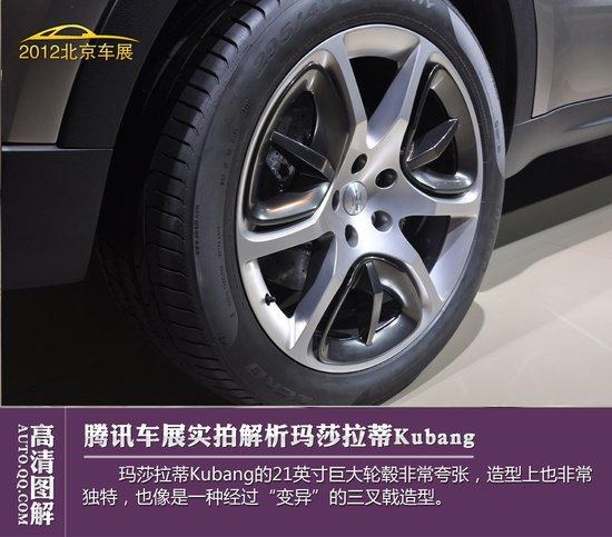 [图解新车]玛莎拉蒂SUV概念车Kubang图解