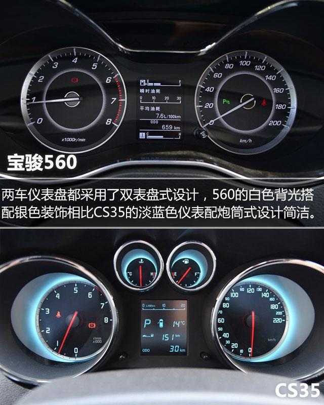 长安cs35内饰工艺   长安cs35的内饰设计也是在尽力突出运动高清图片
