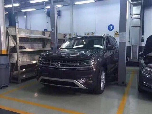 大众全新中大型SUV预告图 或广州车展发布