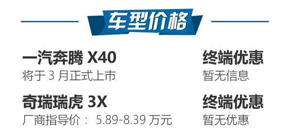 青春活力小型SUV之战 奔腾X40对瑞虎3X-图2