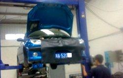 碳纤高尔夫6改装进气作业