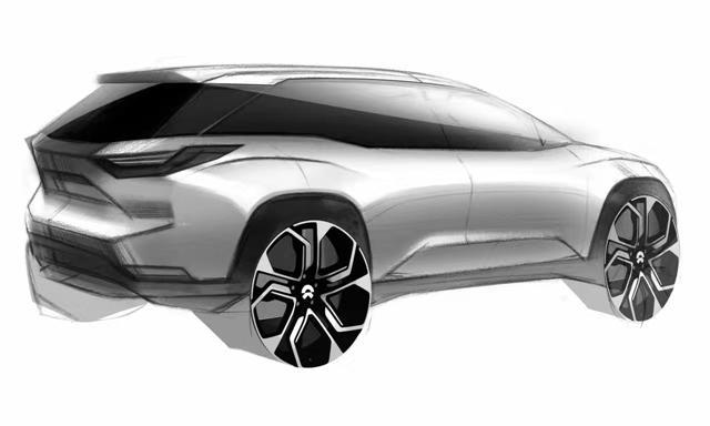 蔚来ES8设计草图 上海车展首发/年底上市