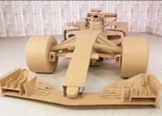 手工打造纸板F1赛车