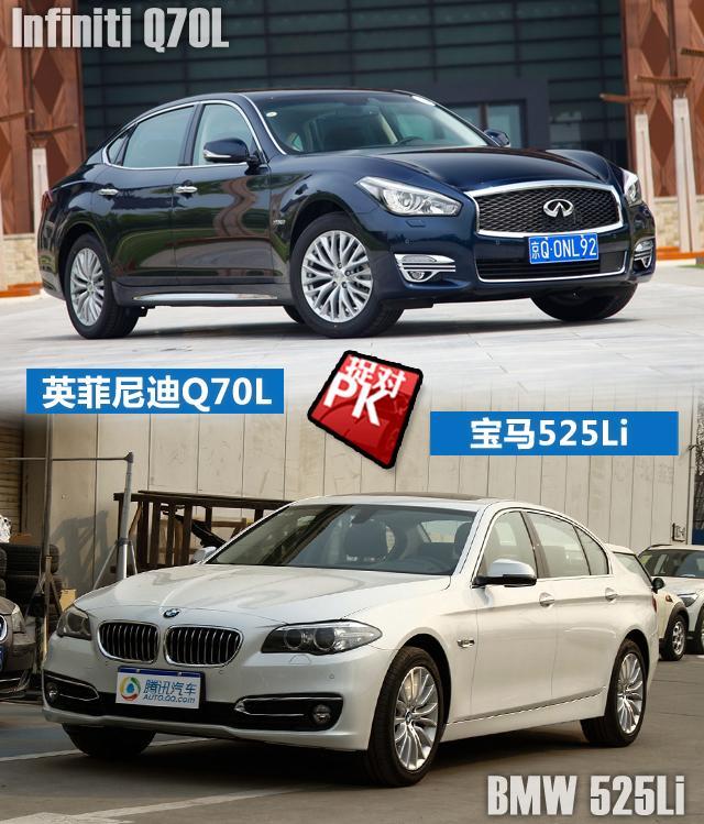 新Q70L对比宝马5系 日系新贵挑战德系王牌