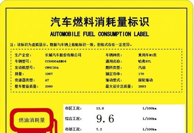 曝哈弗H7/H7L工信部燃油消耗标识 本月上市