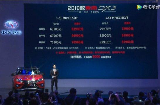 东南汽车DX3上市发布会