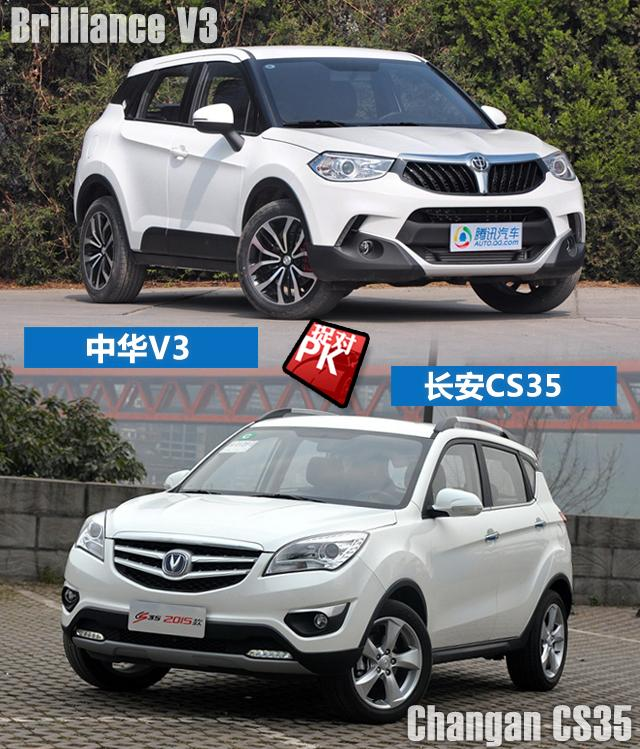 两款时尚自主小型SUV对决 10万元买顶配