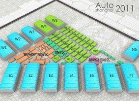 2011上海国际汽车工业展览会各场馆分布