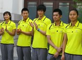 出席活动的羽毛球世界冠军