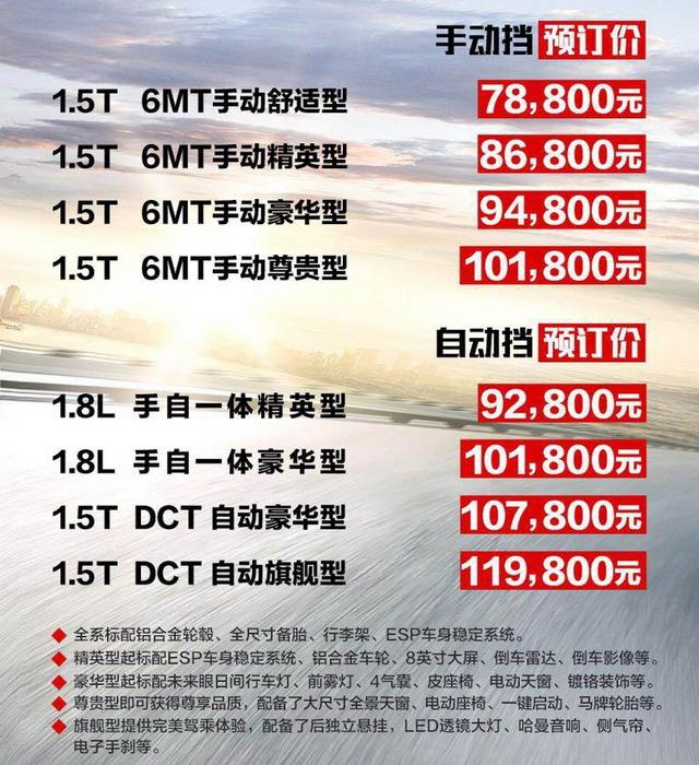 宝骏530 3月上市 预售价格7.88-11.98万元