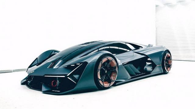 纯电动超跑 兰博基尼Terzo Millennio概念车
