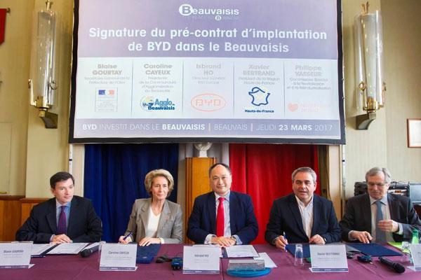 比亚迪在法国投资建第二家工厂 负责生产电动公交车
