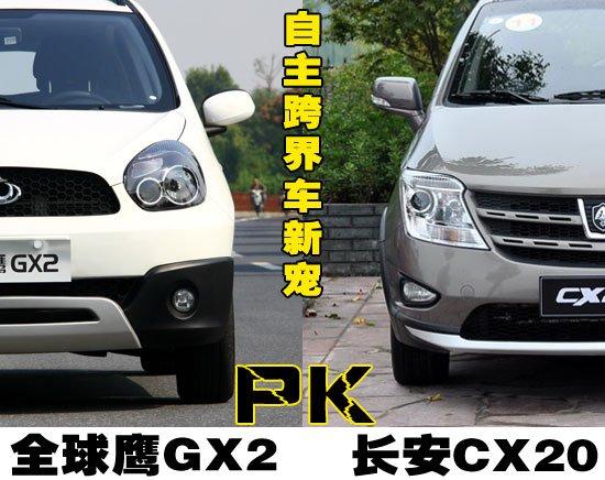 新兴的跨界力量 全球鹰GX2对比长安CX20