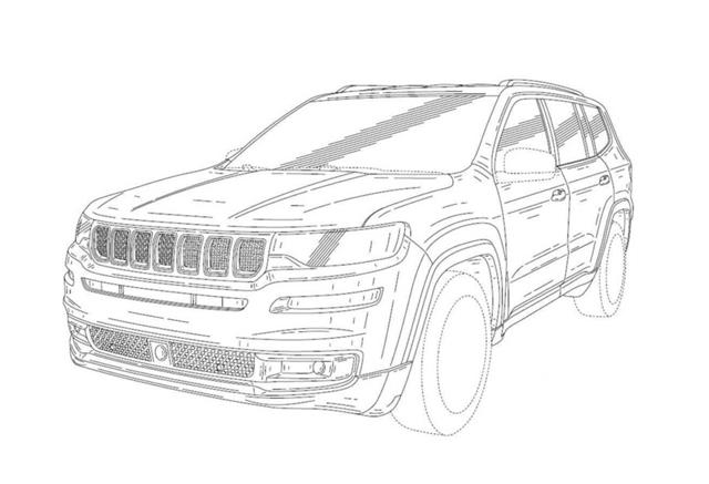 Jeep全新7座SUV专利图曝光 或为新瓦格尼