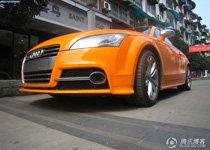 耀眼的橙色绽放光芒 实拍奥迪TT-S